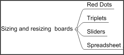 changing board sizes