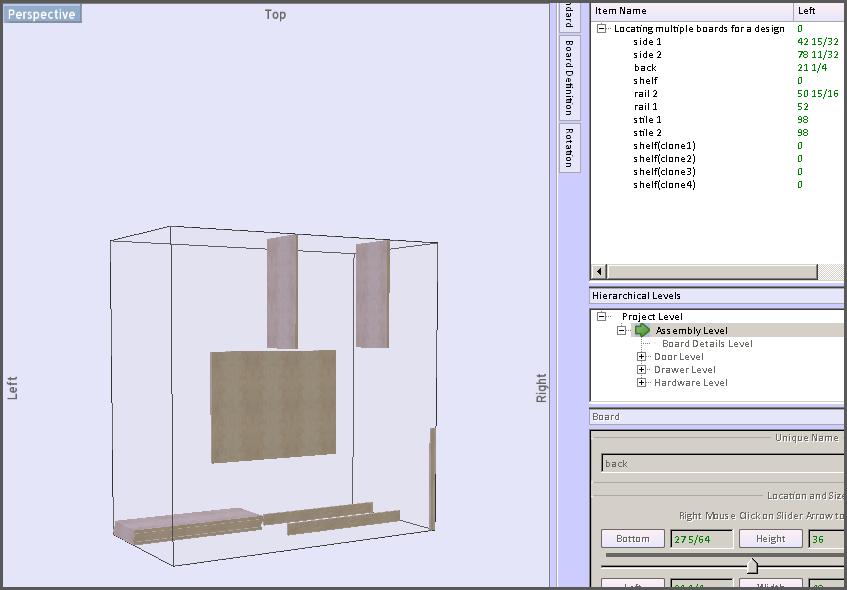 locate boards in 3D 2