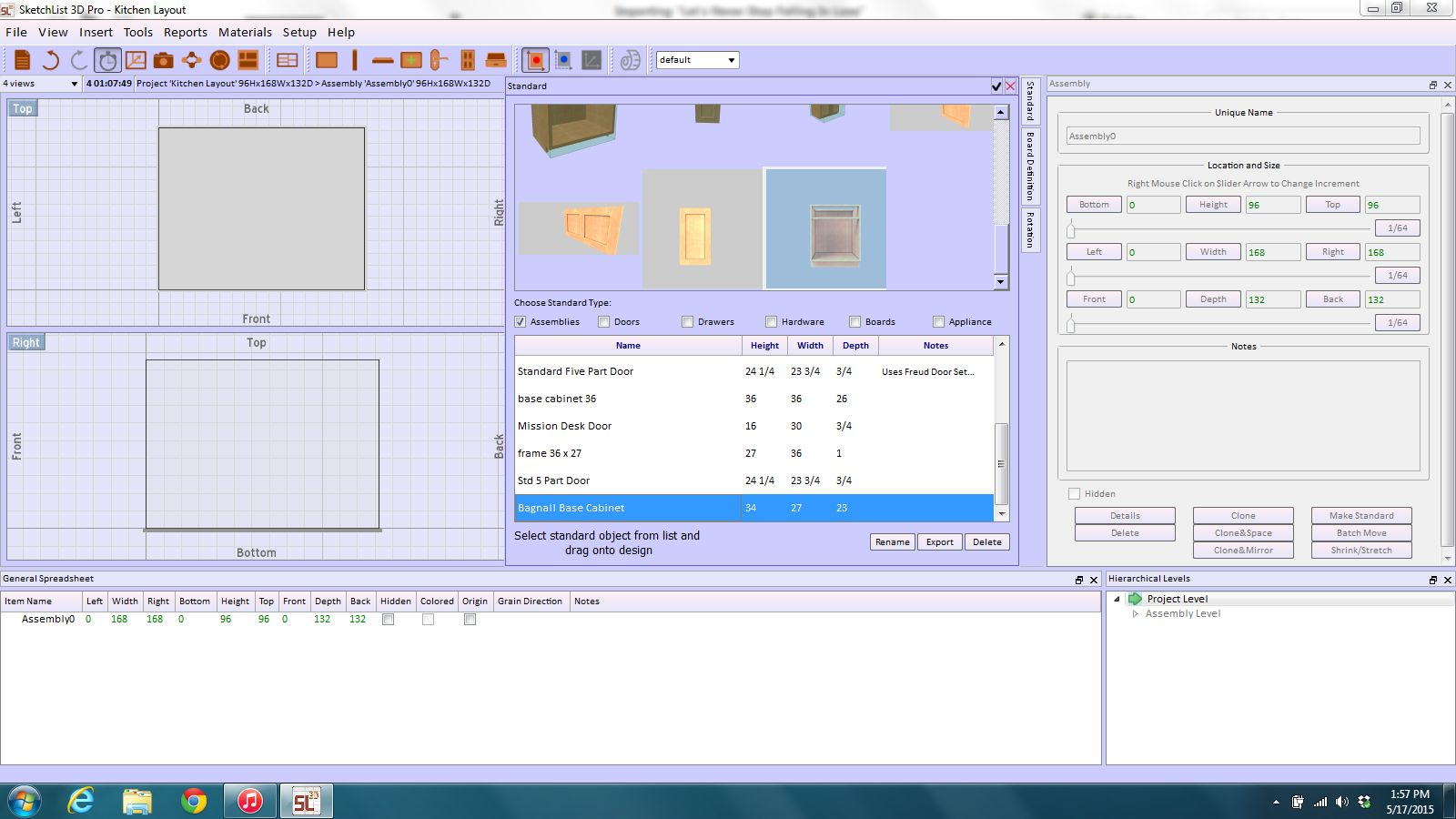 Laying Out The Virtual Kitchen Cabinet Design Sketchlist3d
