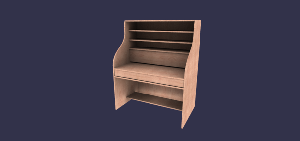 image of desk with shelves - Desk Design Software