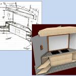 Image of Paper Sketchlist Vs cabinet design software rendering