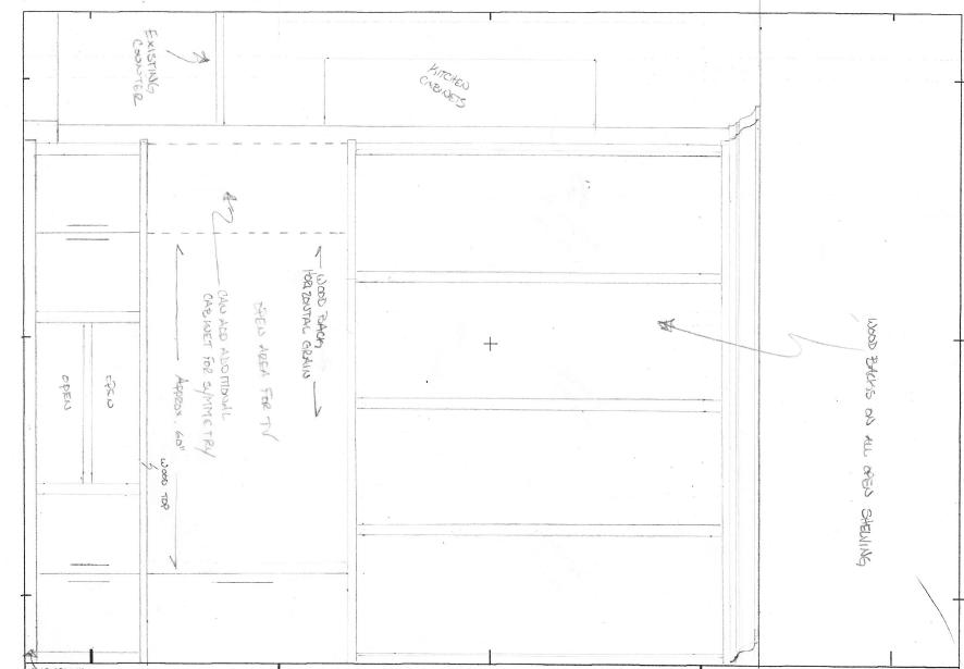 Furniture CAD   Hand Sketch