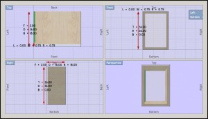 Using Dim lines in cabinet design software