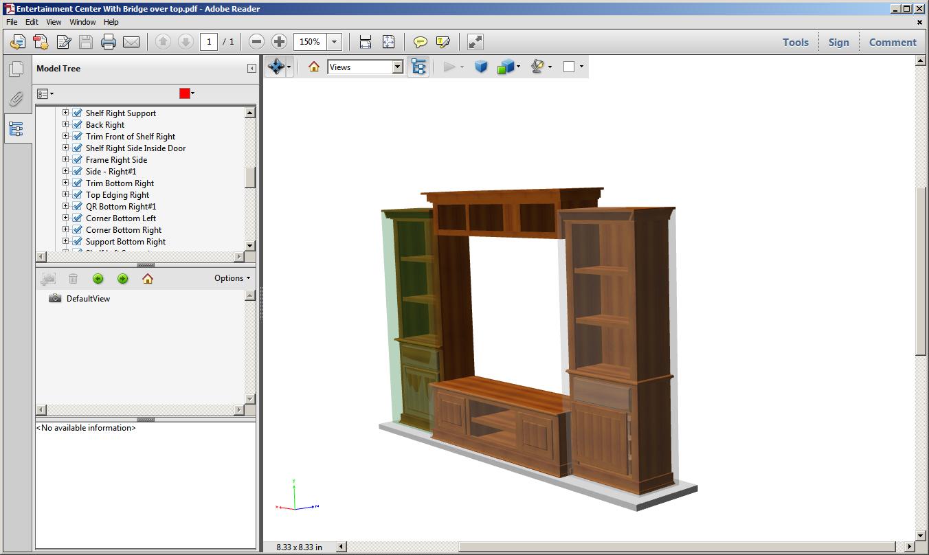 PDF 3D Images in Cabinet Design Software | SketchList3D