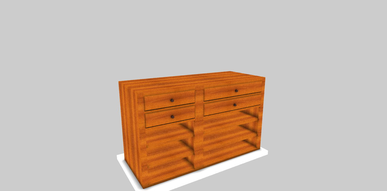 Resize drawers using furniutre design software