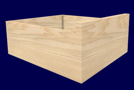 desk drawer created with cabinet design software - Desk Design Software
