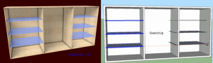 Comparing cabinet design in SketchList 3D with SketchUp