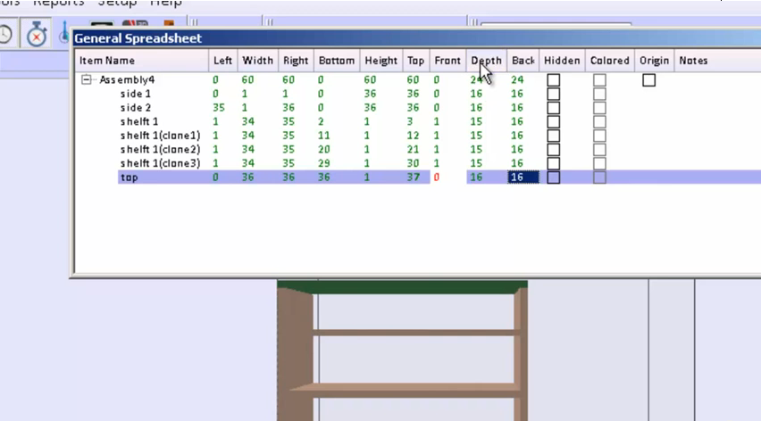 Design a bookcase with cabinet design software.