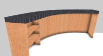 Curved desk desgined in cabinet design software