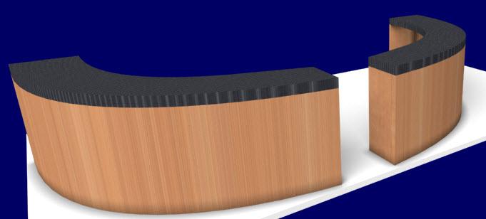 reception desk in cabinet design software - Desk Design Software