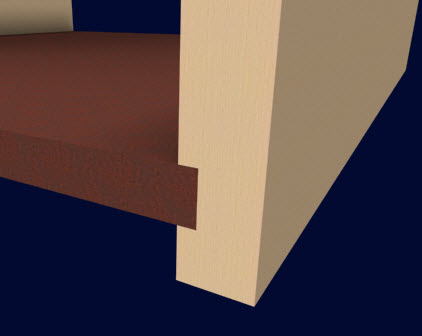 Furniture Design Software dado on surface