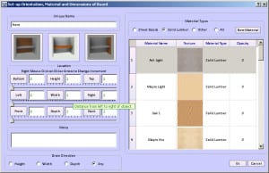 Furniture Design Software - inserting a new board