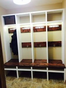 finished lockers