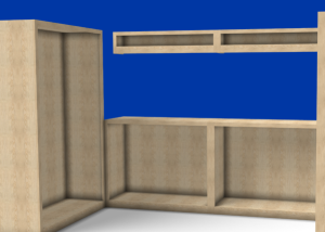U sahped Cabinet Created with SketchList 3D