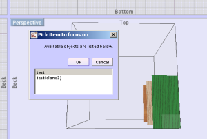 Selecting level for cabinet design software