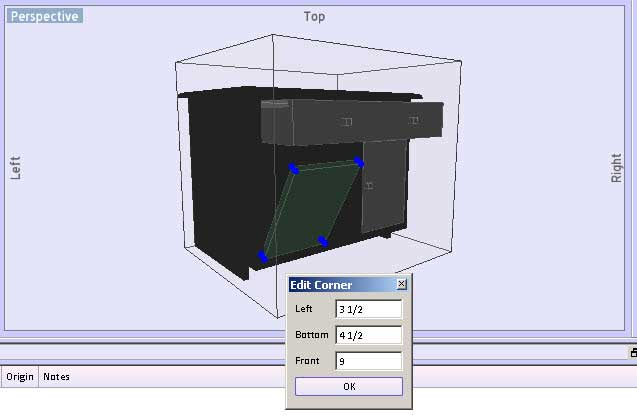 Locating A Rotated Object In SketchList 3D Cabinet Design Software