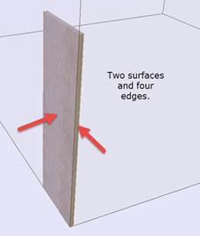 surface and edge