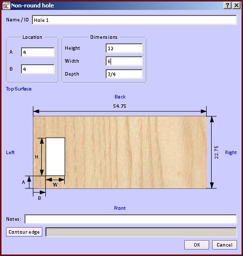non round hole form Cabinet Design