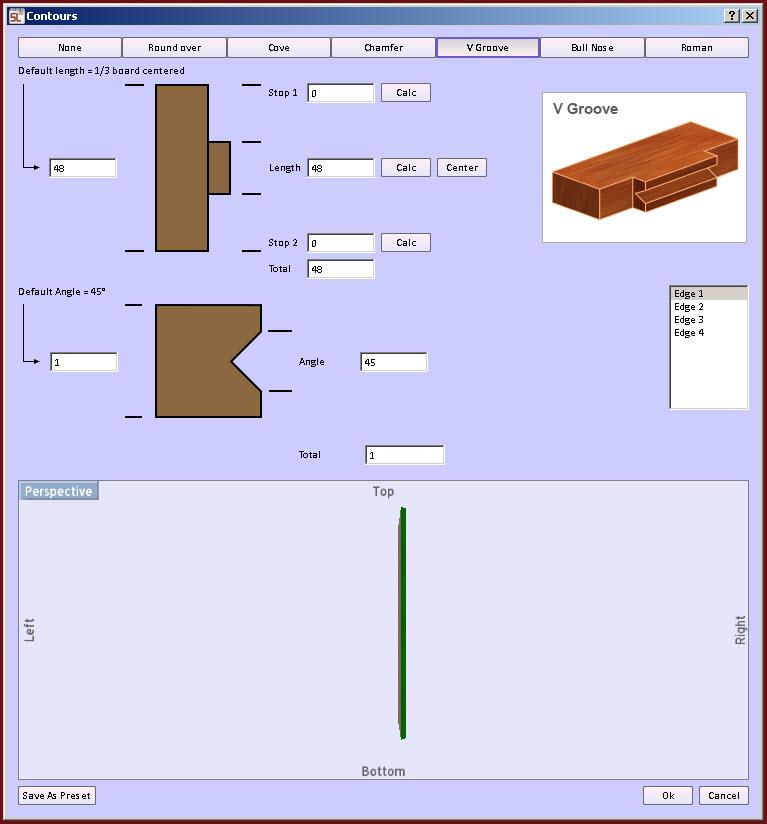 v groove Cabinet Design