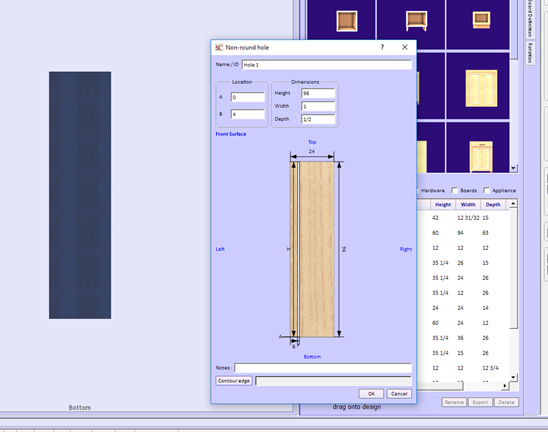 flute in wood working design software