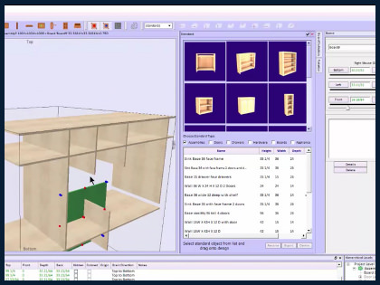 Cabinet design software for custom woodworking professionals for Woodshop layout software