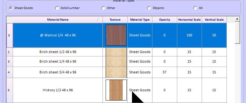 Cutting list for kitchen cabinets - materials - Sketchlist 3D
