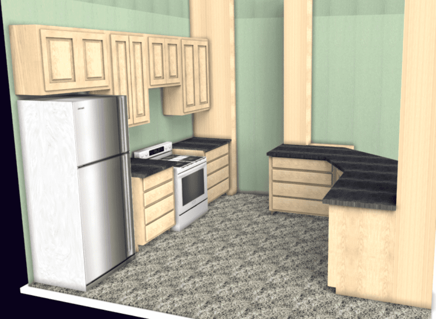 Kitchen layout software rendering