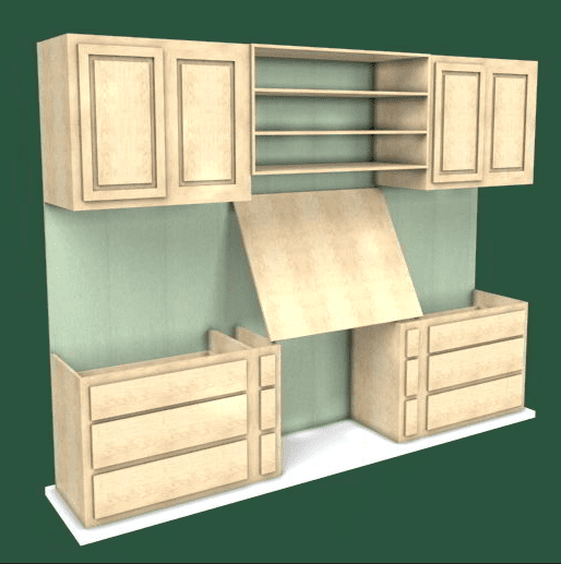 image photo of wall unit woodworking business